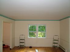 Prior to the installation of a Coffered Ceiling - Long Valley, NJ