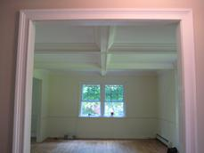 Installed Coffered Ceiling (prior to painting) - Long Valley, NJ